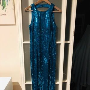 Dresses & Skirts - Floor length sequin vintage dress